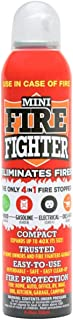 Mini Firefighter All Purpose Fire Extinguisher Classes ABCK Gasoline, Kitchen Grease Oil and Fats, Electric and Wood Fires...