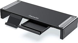 Gemeita Monitor Stand Riser, 3-Width Adjustable Computer Monitor Stand, Foldable Desktop Organizer with Storage Drawer, Pe...