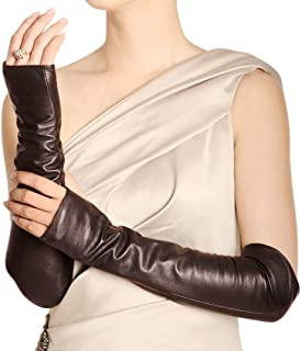 Best long brown leather gloves women's Reviews