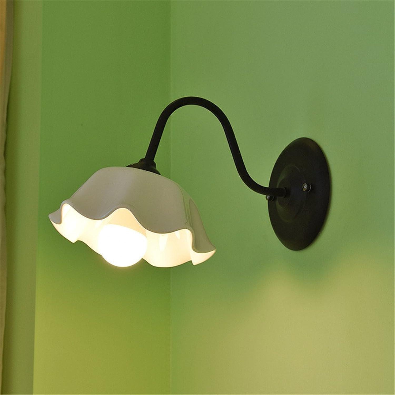 Reeseiy Einfache Vintage Schlafzimmer Wand Lampe Kreative Wohnzimmer Esszimmer Leuchten Gang Leuchten Garten Schlafzimmer Bett Gehweg Deckenleuchte Schwarz (Farbe   Colour-Größe)