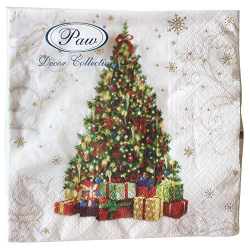 Natale 20tovaglioli regali per lei regalo Tree festive Star–3PLY–33x 33cm