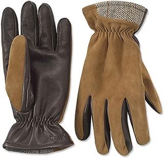 Men's Tweed Trimmed Suede Glove