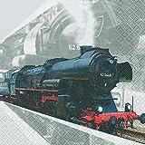 20 Servietten Lokomotive/Lok/Zug/Eisenbahn 33x33cm