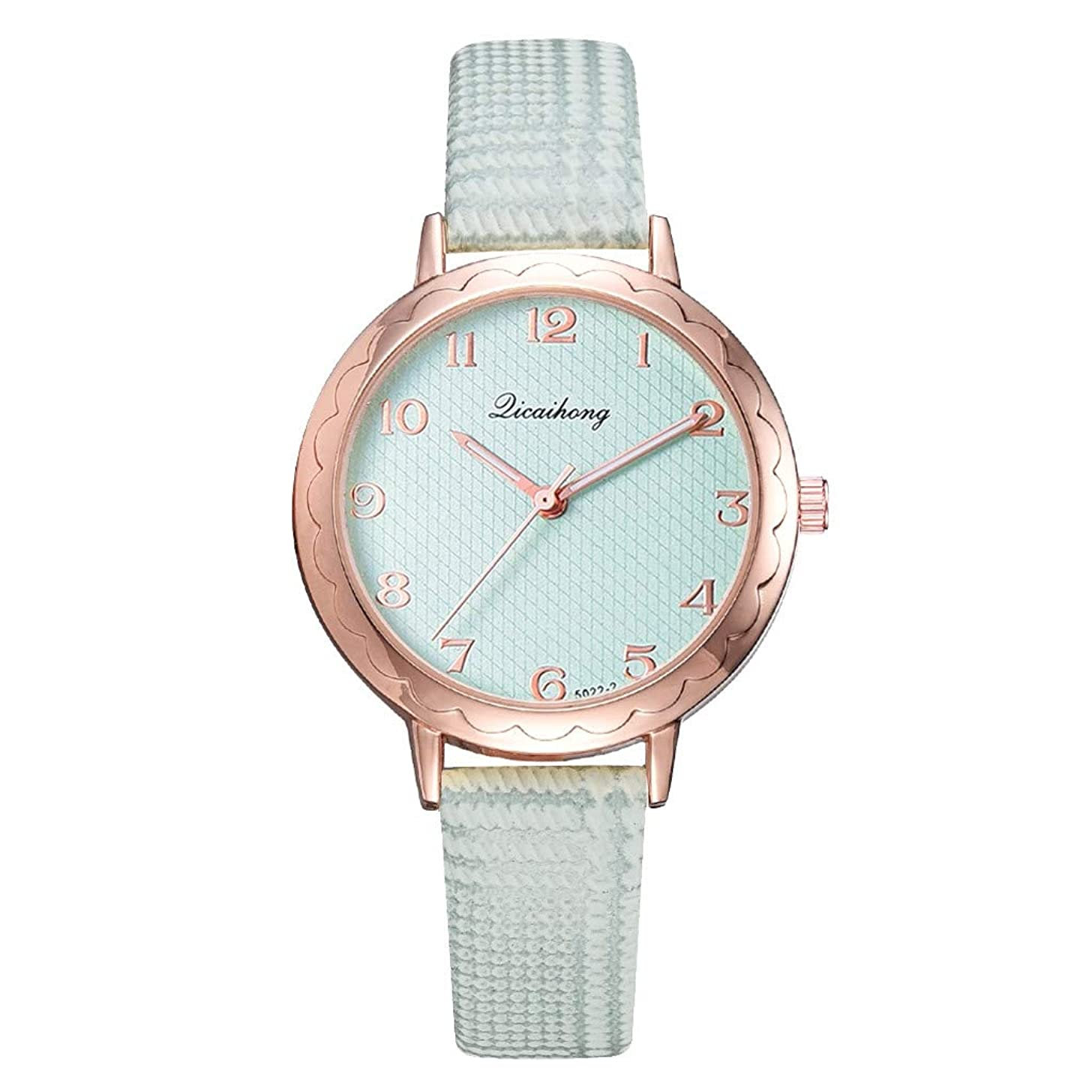 LUCAMORE Wrist Watch, Women Quartz Stainless Steel Watch Leather Band Watch Fashion Gift