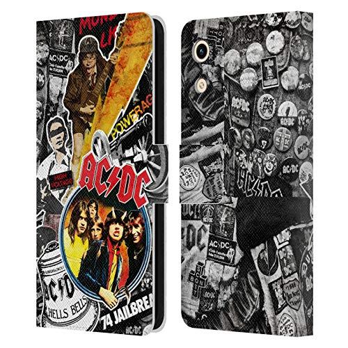 Head Hülle Designs Offizielle AC/DC ACDC Ikonen Collage Leder Brieftaschen Handyhülle Hülle Huelle kompatibel mit Huawei Honor Play 8A