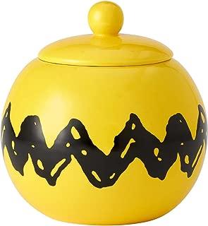 "Enesco 6001030 Licensed Peanuts"" Zigzag Ceramic Cookie Jar, 7.75"