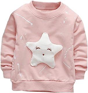 K-youth Sudadera para Niñas Ropa Bebé Niña Tops Niños Pentagrama Camiseta de Manga Larga Sudadera Niños Sweat Shirt Ropa B...