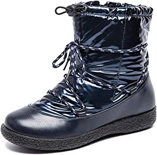 Winter Snow Boots for Women Waterproof Ankle Booties Slip On Warm Fur Lined Outdoor Shoes