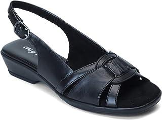 Easy Street womens Heeled Sandal, Black, 6.5 X-Wide US