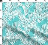weiß, türkis, Pflanzen, Sommer, tropisch, Palmen,