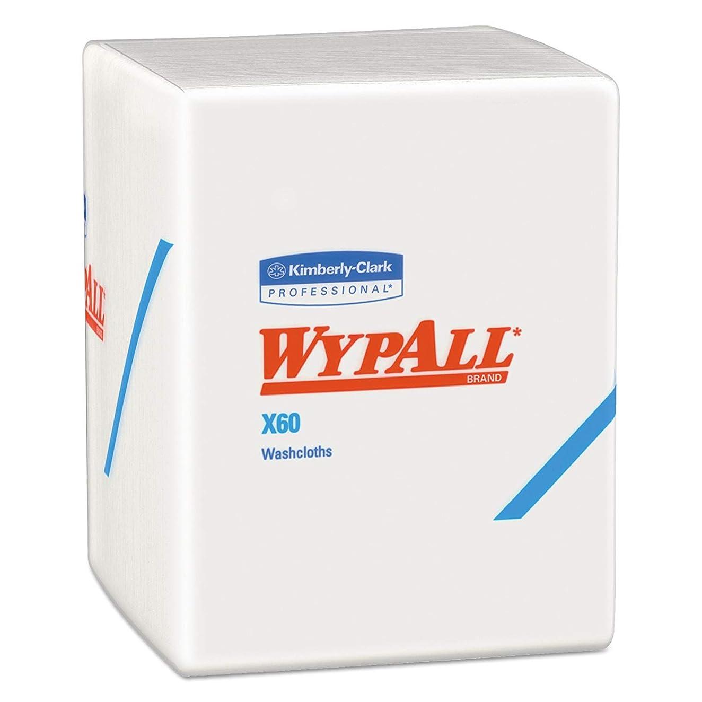 懐疑的代表団近代化するWypall 41083 X60 布 1/4 折りたたみ 12 1/2 x 10 ホワイト 1パック70枚入り (8枚入り)