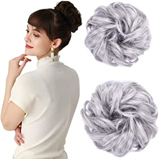 Women's Thick 2PCS Hair Scrunchies Made of Hair Curly...