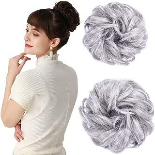 REECHO Women's Thick 2PCS Hair Scrunchies Made of Hair...