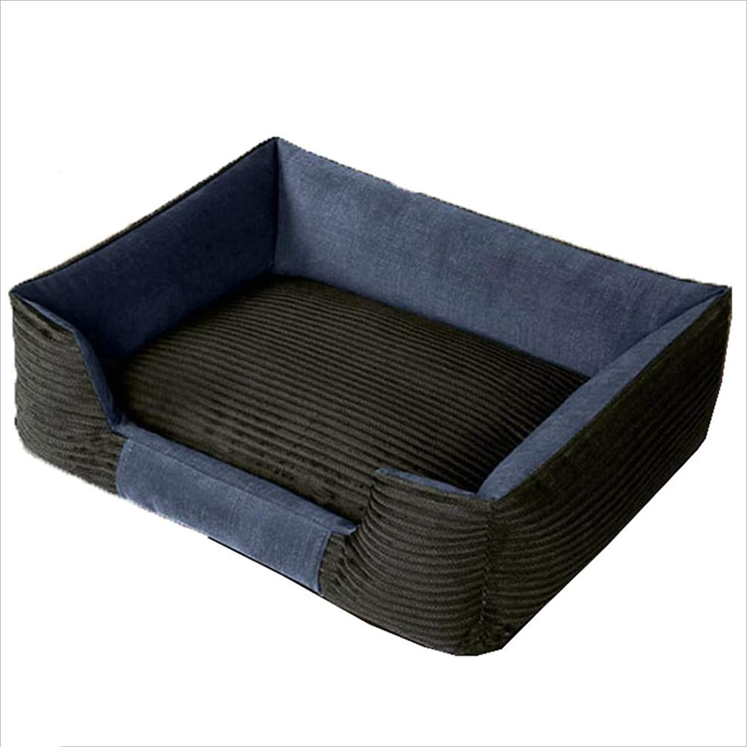 Pet Nest Pet Sofa Pet Bed Cat Nest Kennel Dog Nest Cat Kennel Corduroy WearResistant and AntiDirty Haiming (color   Royal bluee, Size   S)