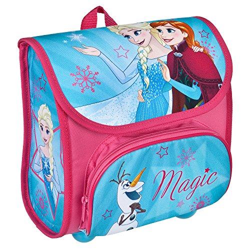 Scooli FRSW8240 - Vorschulranzen Cutie mit Klettverschluss, ergonomisch, leicht, Disney Frozen mit Anna, Elsa und Olaf, ca. 4,5 Liter