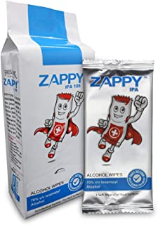 Zappy Alcohol 10s Wipes, 10 ct
