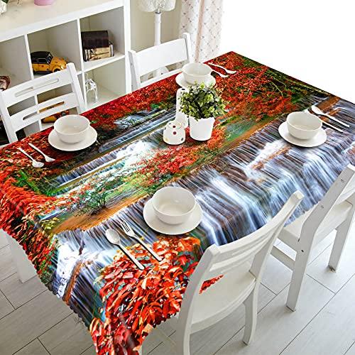 XXDD Mantel de Paisaje de Gaviota de árbol de Coco de Playa 3D Mantel Rectangular Lavable decoración de Boda Familiar A7 140x200cm