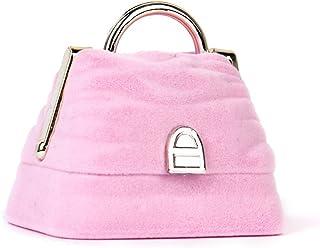 Flyme Handbag-Shape Ring Gift Box Jewelry Storage Case Velvet Pink