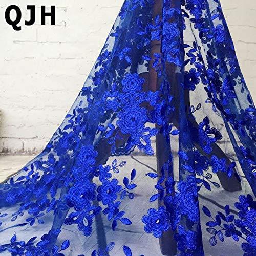 ASTONISH 2018 High-End-Mode-Französisch-Spitze-Gewebe-Qualitäts-afrikanische Tüll gestickte Blume transparentes Netz-Spitze-Gewebe für Hochzeit: BU