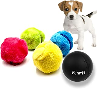 Magic Roller Ball Toy Automatic Roller Ball Magic Mocoro Ball Dog Cat Pet Toy 1 Rolling Ball and 4 Color Ball Cover for Cleaning Home and Pet Toys