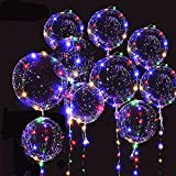 10 PACKS LED Bobo Balloons,Transparent LED Light Up Balloons,Helium Style Glow Bubble Balloons with String Lights for Party Birthday Wedding Festival Decorations (Colorful)