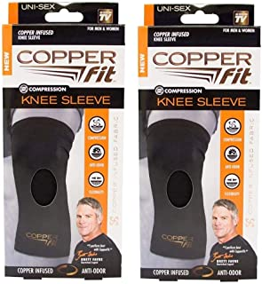 Copper Fit Original Recovery Knee Sleeve - Pack of Two Sleeves -