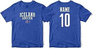 nobrand Iceland Men's Flag National Pride Man Soccer Team T-Shirt Soccer Jersey