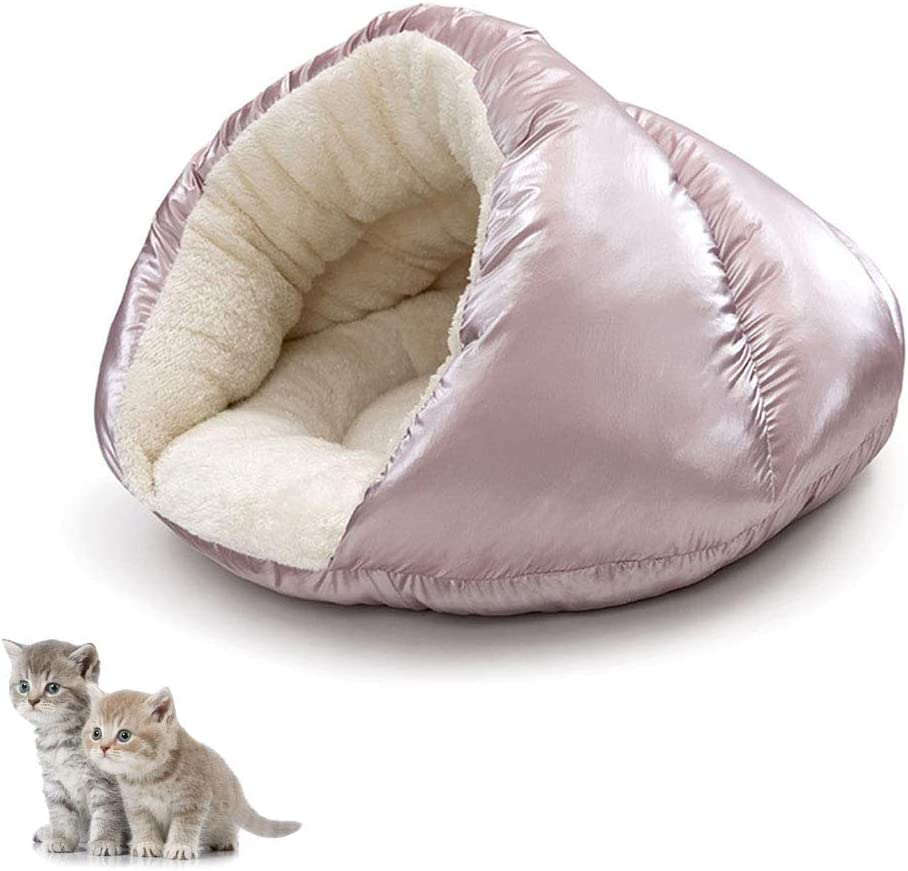 Cat Bed Cave House Best For Indoor Cats Houses Heated Kitten Warm Pet Self Warming Caves Igloo Igloo Bed Pet Tent House Pink Amazon Co Uk Pet Supplies