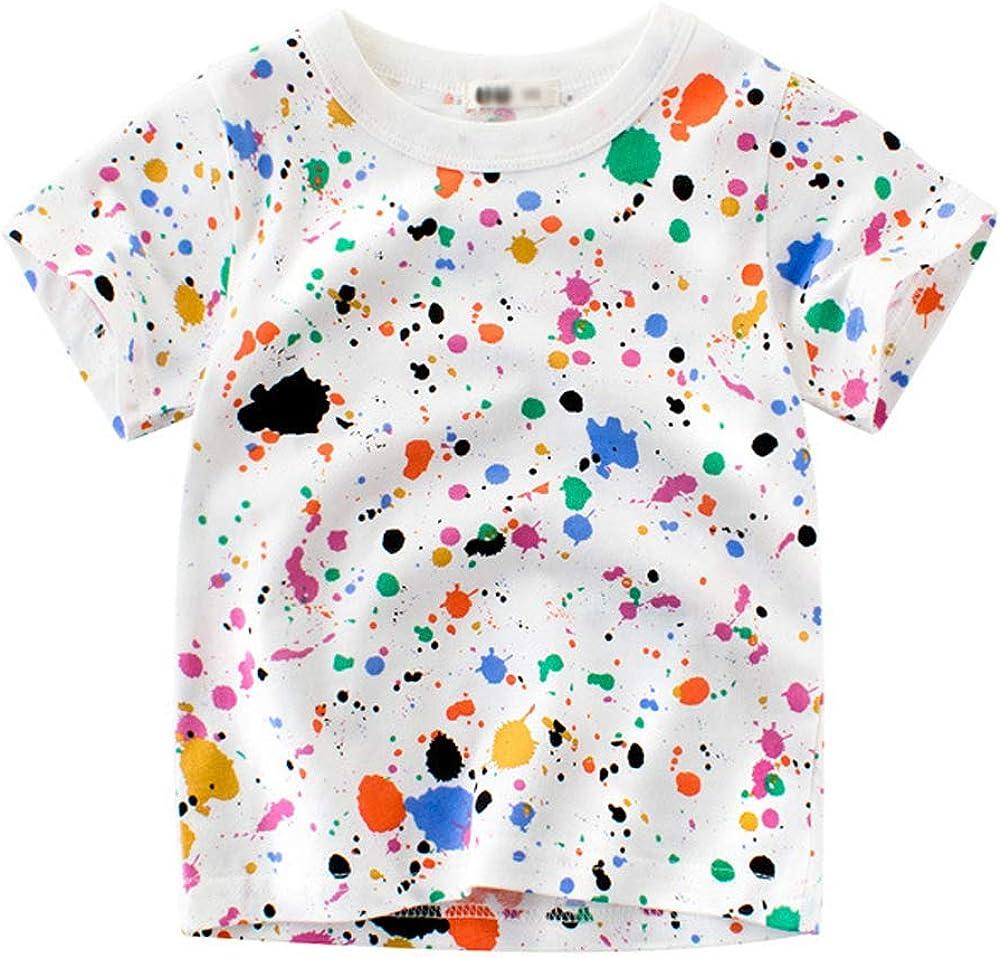 Toddler Boys Girls Kids Graffiti Print T Shirt Fashion Short Sleeve Tee Tops