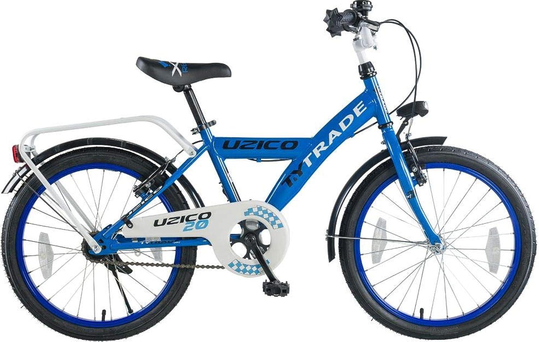 20 Zoll Kinder Jungen Bike Fahrrad Rad Jungenfahrrad KINDERFAHRRAD Kinderrad BMX Rücktrittbremse UZICO Blau TYT19-033