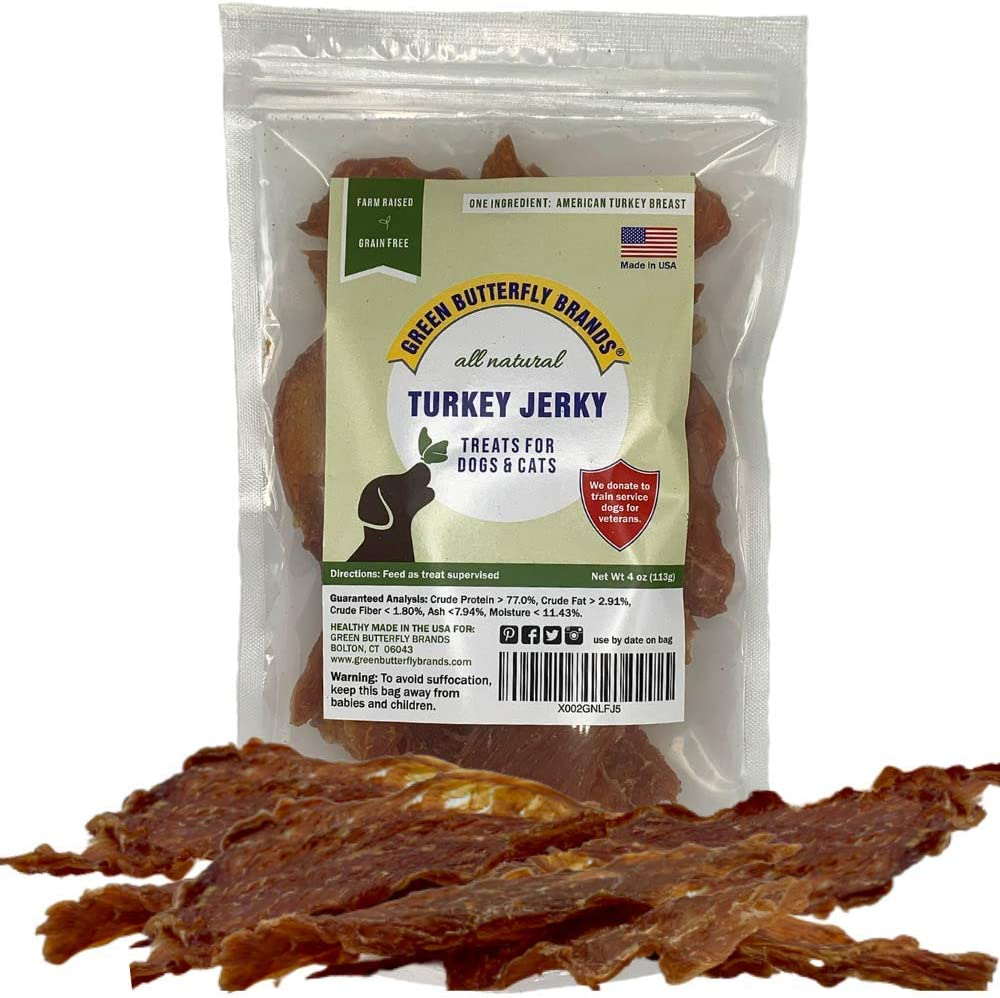 Green Ranking integrated 1st place Butterfly Brands Dog Jerky Turkey Sale price – Premium Treats Br