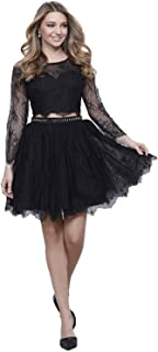 Nox Anabel Womens Two Piece Short Lace Dress Black Extra Small, Medium