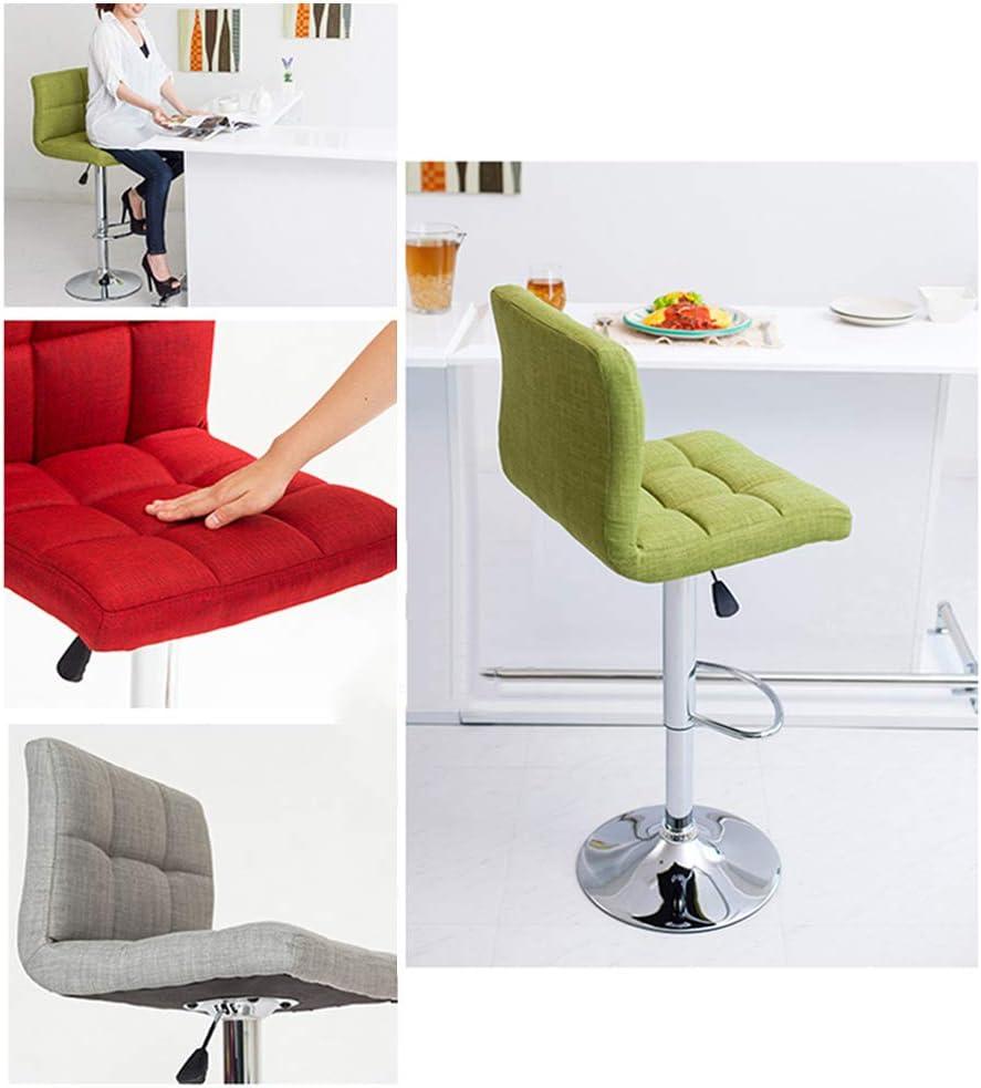 WCURT, Beauty Nail Haircut Cashier Front Desk Lift Chair Lift Tabouret réglable en Hauteur, Chaise pivotante à 360 ° Chaise Ergonomique, Gris-Green Green