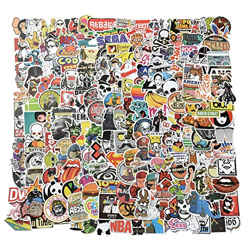 Willingood Aufkleber 200 Stück Wasserdicht Vinyl Stickers Graffiti Style Decals für Auto Motorräder Fahrrad Skateboard Snowboard Gepäck Laptop Aufkleber MacBook iPad und mehr