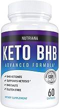 Nutriana Keto Diet Pills - Ketogenic Complete Keto Pills for Women and Men - Keto Supplement BHB Salts - Keto Fast Exogeno...