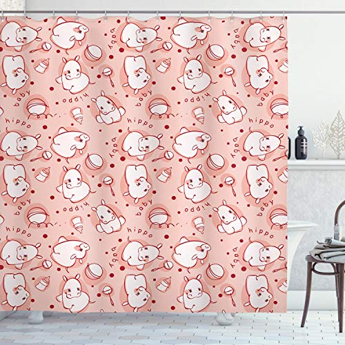 cortinas baño hipopotamos