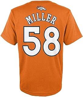 Youth Von Miller Orange Broncos Mainliner Name & Number T-シャツ
