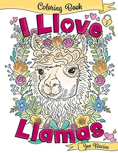 I Llove Llamas Coloring Book
