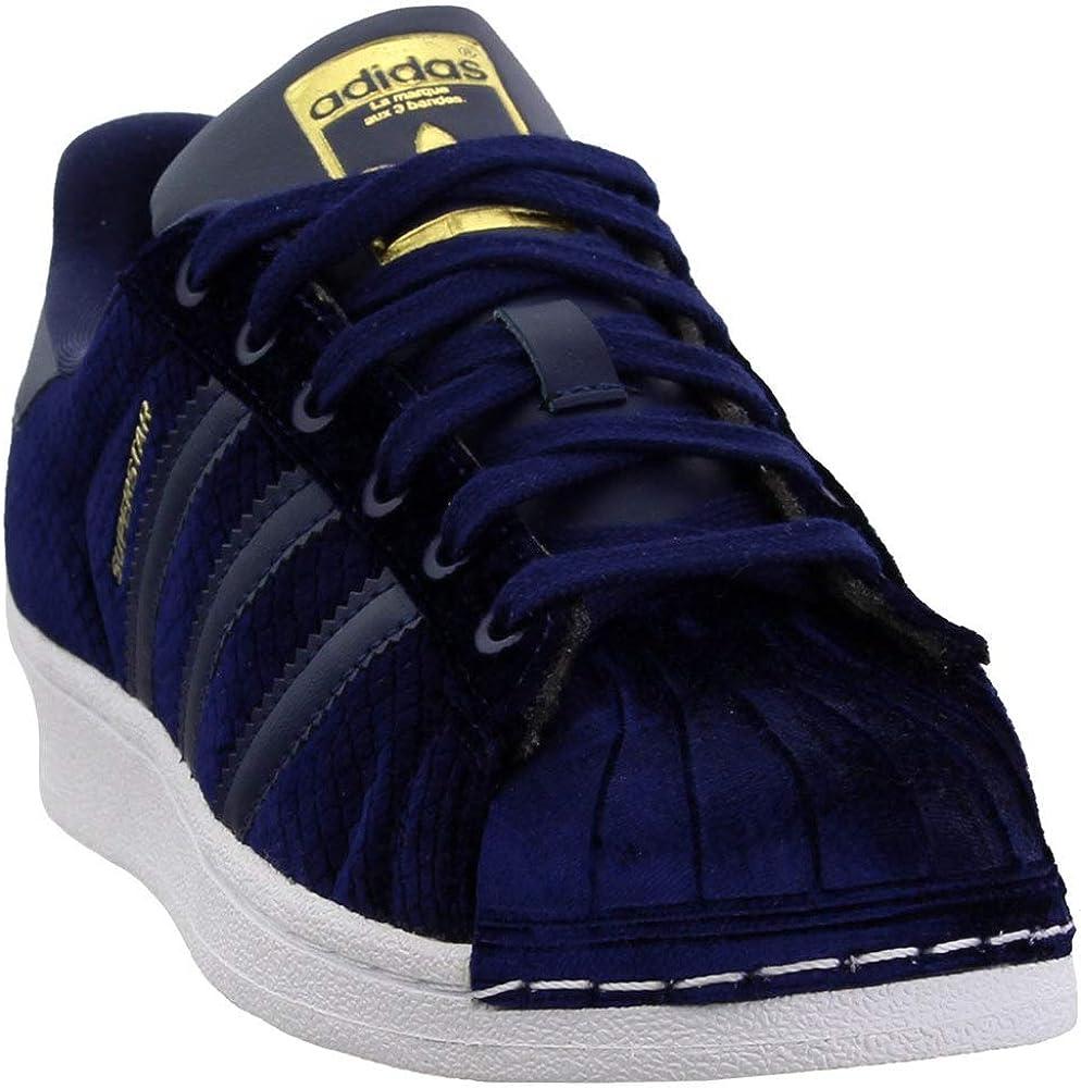 adidas Originals Women's Superstar Fashion Velvet Sneakers B41511,Size