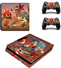 Sonic Force PS4 Slim Skin Console and 2 Controller, Vinyl Decal Sticker Full Cover Protective by Mr Wonderful Skin