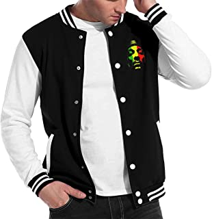 HUANGHOUSTORE Adult Snoop Dogg Baseball Uniform Jacket Hoodie Fashion Sweater Coat M