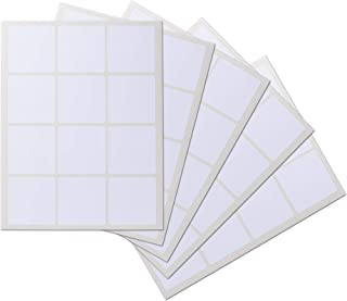 Crinklee Waterproof Essential Oil Labels, 60 Squares, 2.5 x 2.5 Inches, Rounded Corners, Guarantee, Oil Proof, Highly Durable, Strong Glue