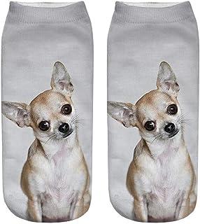 Calcetines Cortos Invisibles para Unisex,3D Dog Printed Calcetines Casuales de Tobillo de corte bajo,Calcetines cortos Transpirables para Equipos Deportivos al aire Libre