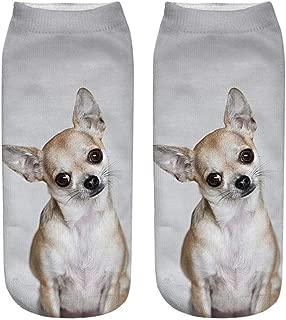 JiaMeng Calcetines Cortos Unisex Divertidos Populares Calcetines Tobilleros Impresos en 3D para Perros Calcetines Casuales Calcetines de Deporte para Hombre Mujer