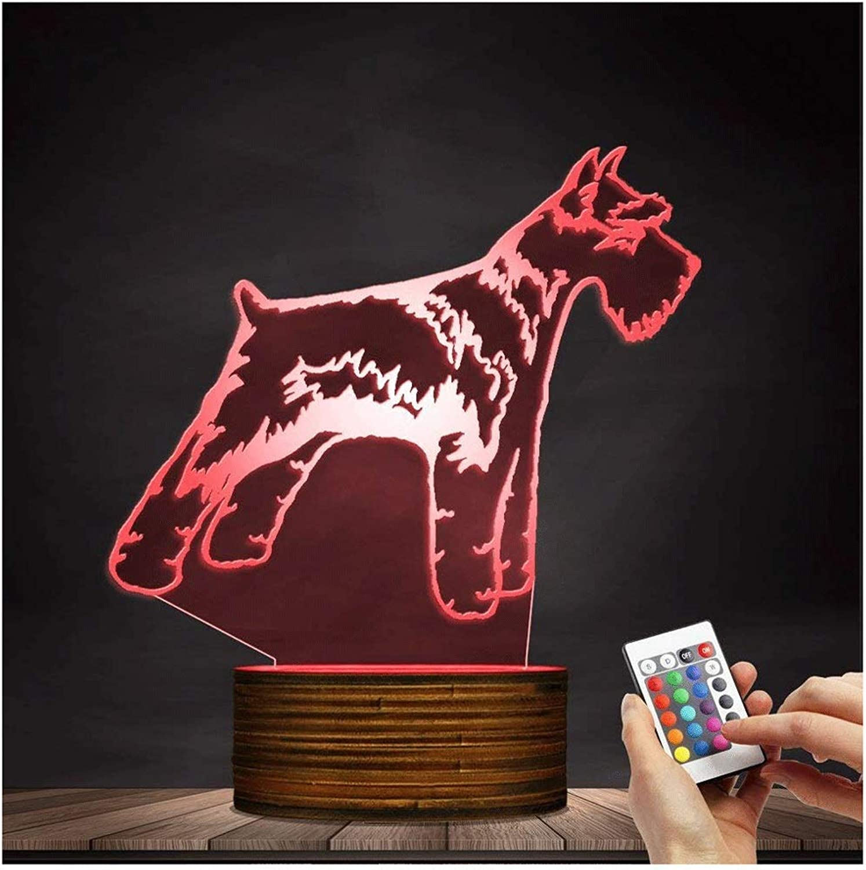 LIX-XYD Umgebungslicht, LED-Nachtlicht 3D dekorative Beleuchtung Farbwechsel Acryl Lampe Geschenk für Hundeliebhaber Stimmungslicht