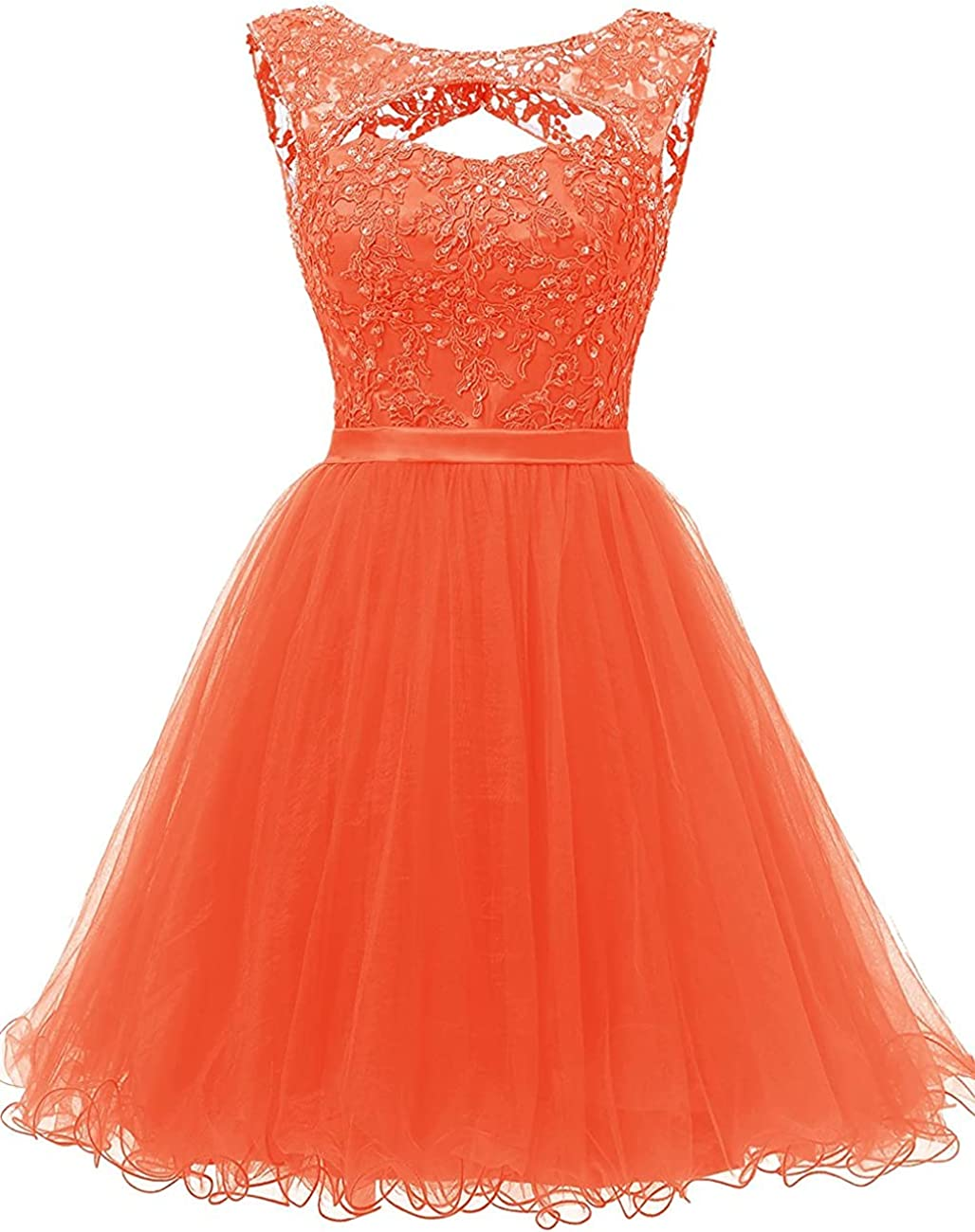 Homecoming Dress Tulle Short Prom Coc Lace Beaded NEW before selling ☆ Applique Max 89% OFF