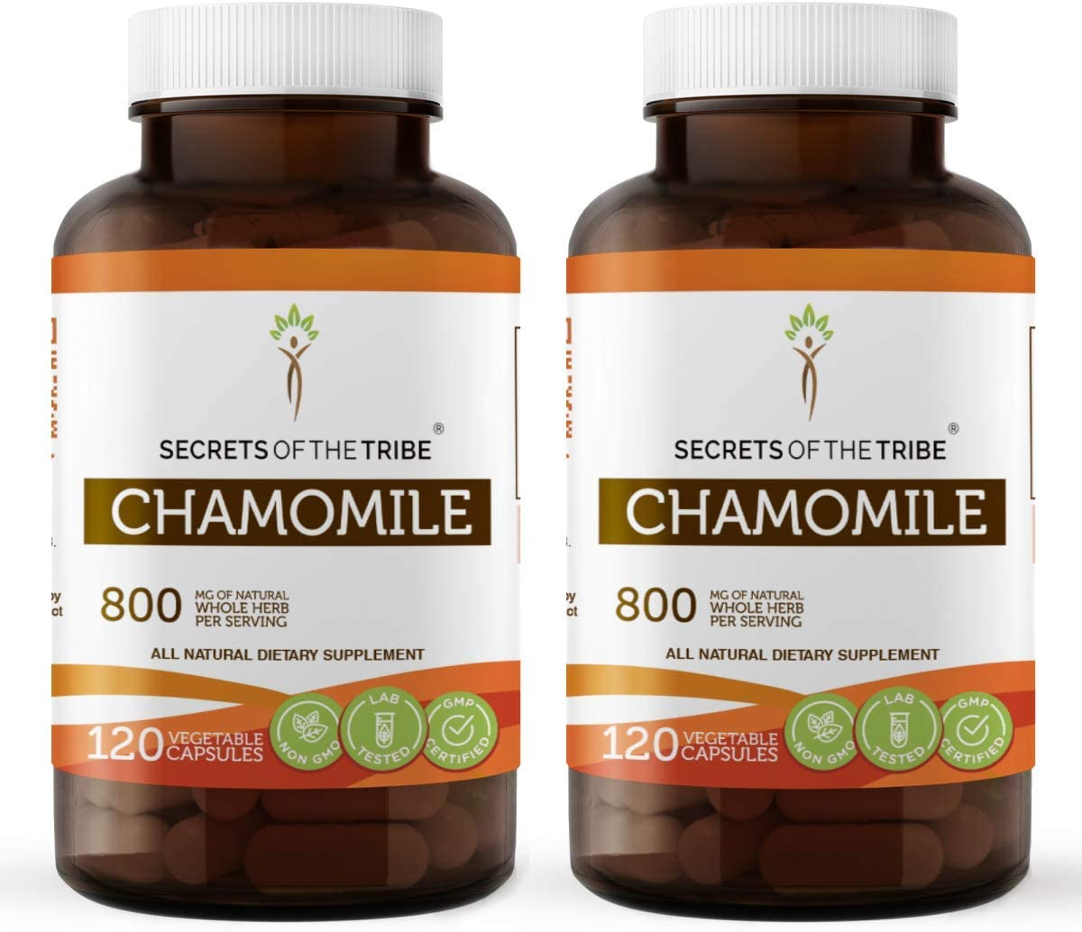 Chamomile 120 Capsules 2 pcs. mg Max 40% OFF 800 Organic 40% OFF Cheap Sale Matri