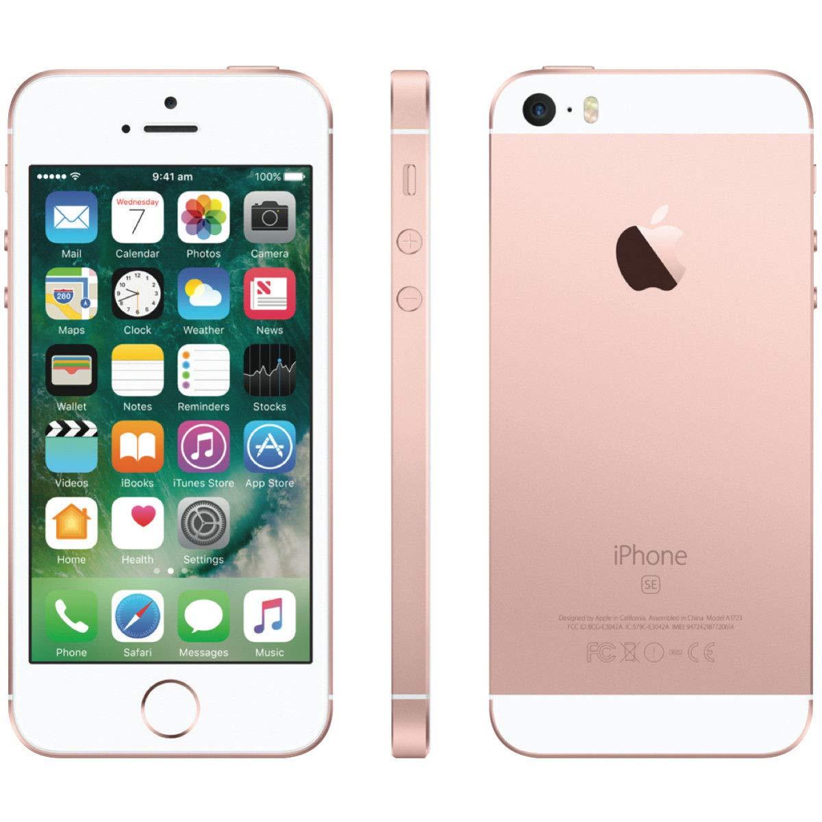 Apple iPhone SE, 16GB, Rose Gold - For Sprint (Renewed)