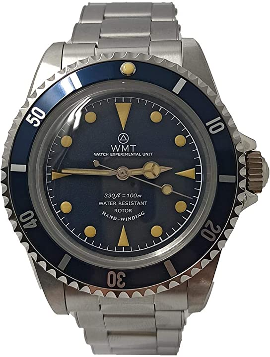 Orologio walter mitt royal marine diver mercedes acciaio automatico blu orologio unisex BLUE-MR