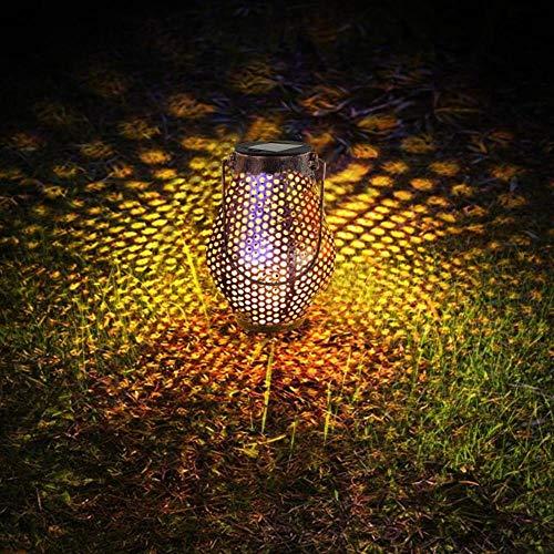 M&QSPS Retro Solar Power LED-Laterne Rasen Landschaft Wasserdicht Blechdose optisch kontrollierte Induktion Licht im Freien Garten-Hängelampe